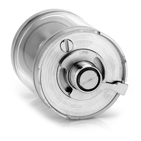 authentic-youde-goblin-mini-rta-rebuildable-tank-atomizer-silver-transparent-stainless-steel-glass-3ml-22mm-diameter